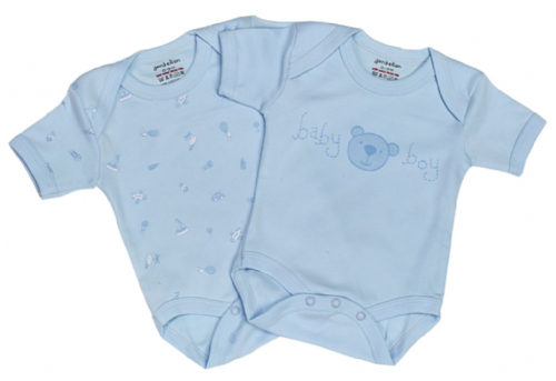 Set of 2 100% Cotton Baby vests